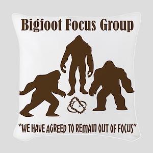Big Foot Focus Group Woven Throw Pillow