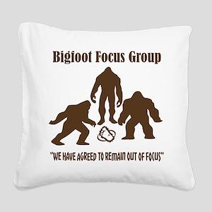 Big Foot Focus Group Square Canvas Pillow