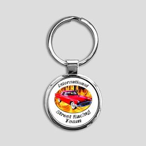 Classic Ford Thunderbird Round Keychain