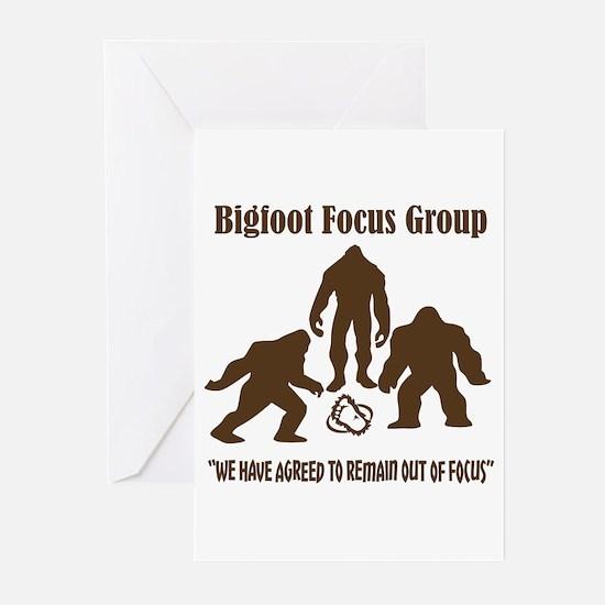 Big Foot Focus Group Greeting Cards