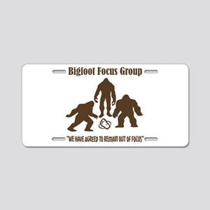 Big Foot Focus Group Aluminum License Plate