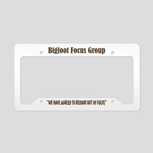 Big Foot Focus Group License Plate Holder