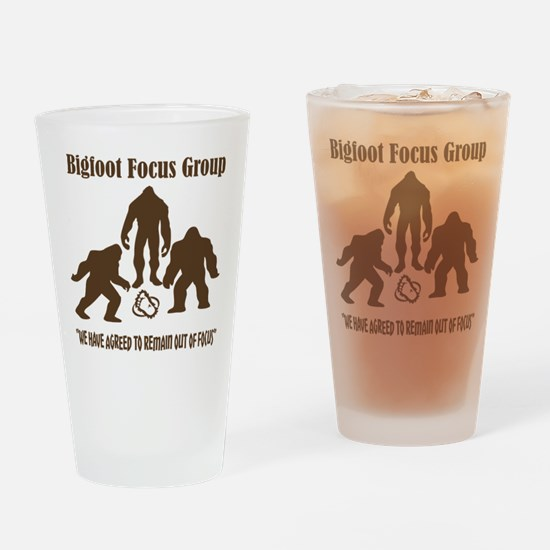 Big Foot Focus Group Drinking Glass