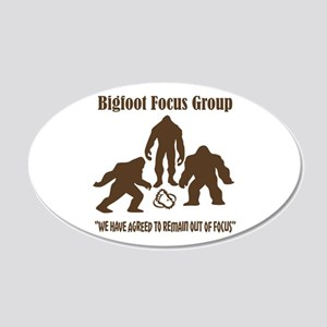 Big Foot Focus Group 20x12 Oval Wall Decal