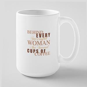 Woman Coffee Humor Large Mug