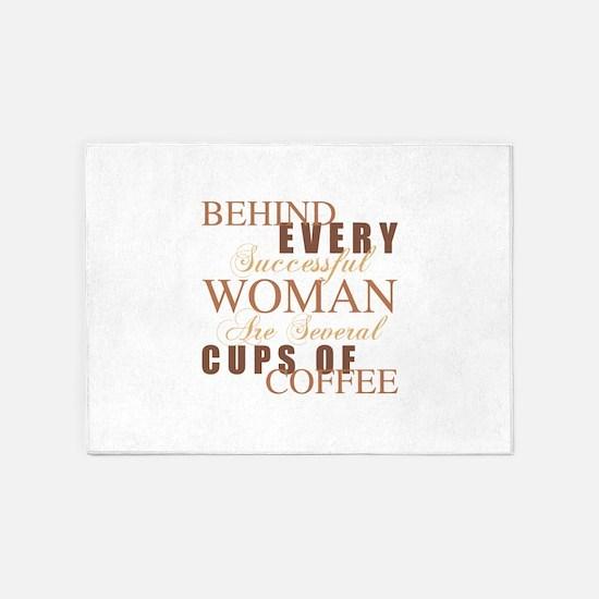 Woman Coffee Humor 5'x7'Area Rug