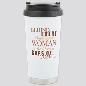 Woman Coffee Humor Stainless Steel Travel Mug