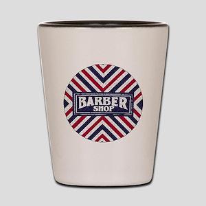 Old Fashion Barbershop Logo Shot Glass