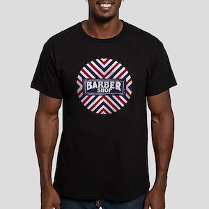 Old Fashion Barbershop Men's Fitted T-Shirt (dark)