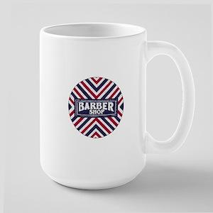 Old Fashion Barbershop Logo Large Mug