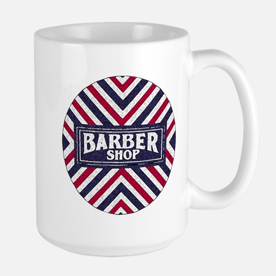 Old Fashion Barbershop Logo Large Mug