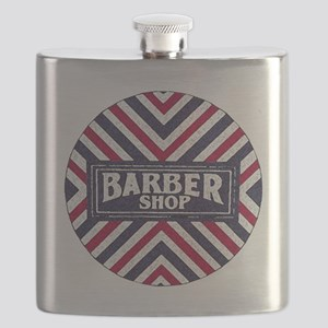 Old Fashion Barbershop Logo Flask