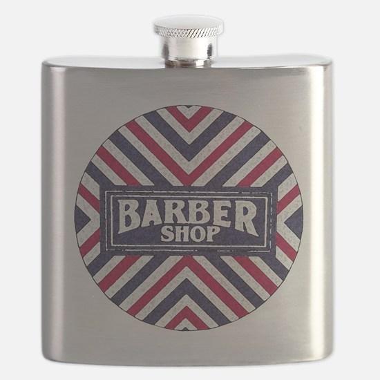 Old Fashion Barbershop Logo Flask