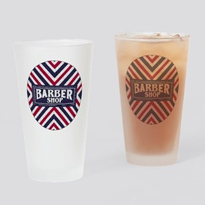Old Fashion Barbershop Logo Drinking Glass