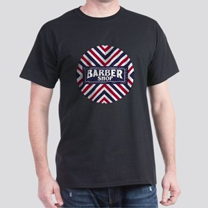 Old Fashion Barbershop Logo Dark T-Shirt