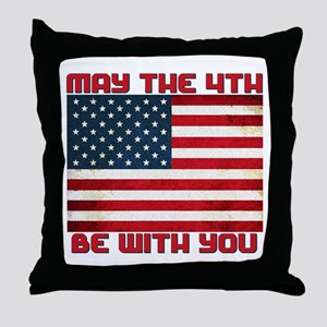 The Fourth Flag Throw Pillow
