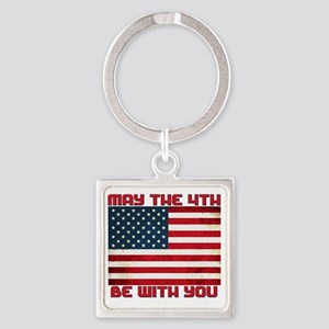 The Fourth Flag Square Keychain