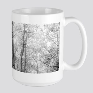 Aspen Tree Forest, Black & White Photography Mugs