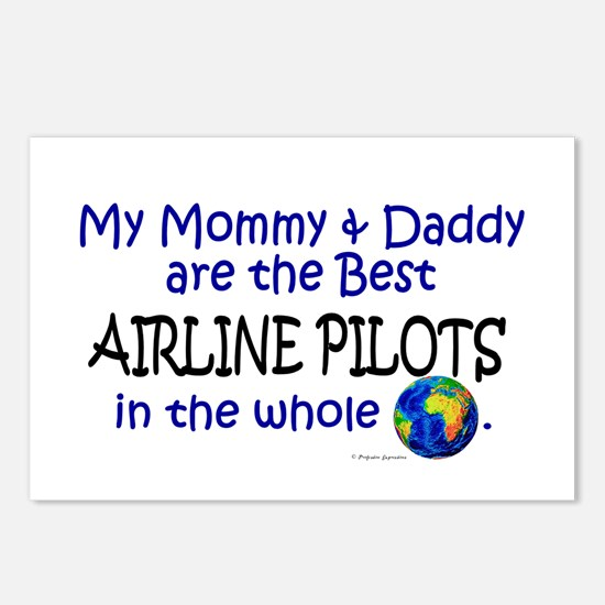 Best Airline Pilots In The World Postcards (Packag