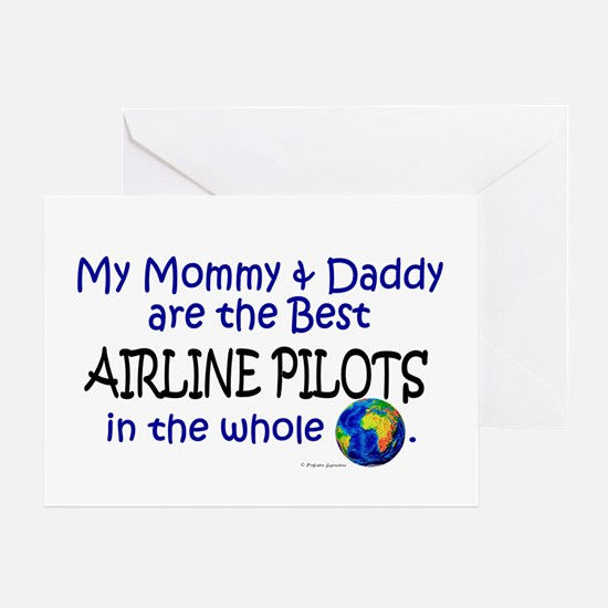 Best Airline Pilots In The World Greeting Card