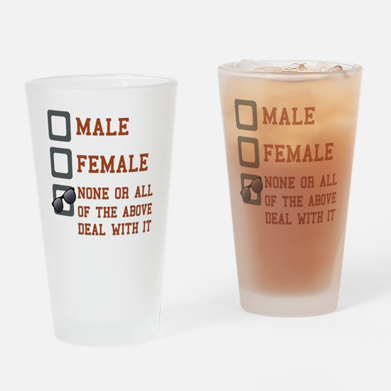 Funny Gender Neutral Drinking Glass