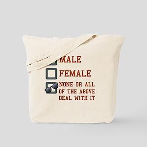 Funny Gender Neutral Tote Bag