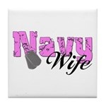 Navy Wife Tile Coaster