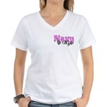 Navy Wife Women's V-Neck T-Shirt