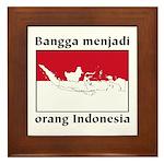 Indonesian Pride Framed Tile