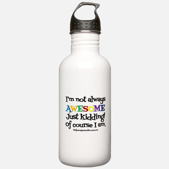 ALWAYS AWESOME (light) Water Bottle