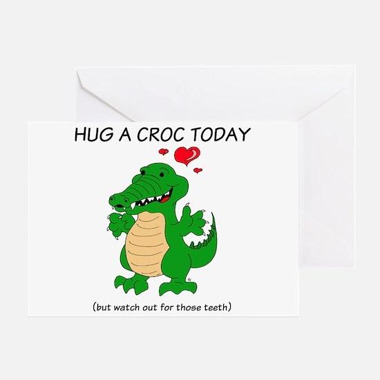 Crocodile Hug Greeting Card
