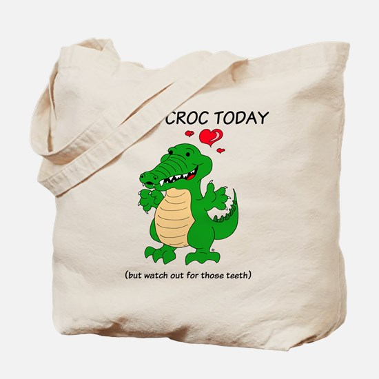 Crocodile Hug Tote Bag