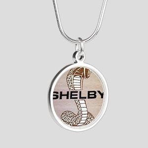 Shelby Cobra Emblem Silver Round Necklace