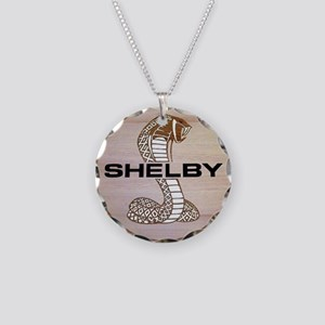Shelby Cobra Emblem Necklace Circle Charm