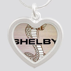 Shelby Cobra Emblem Silver Heart Necklace