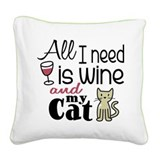 Cat Square Canvas Pillows