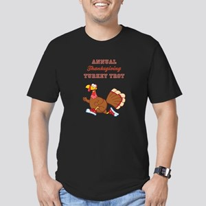 ANNUAL TURKEY TROT Men's Fitted T-Shirt (dark)