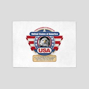 USA Pledge of Allegiance 5'x7'Area Rug