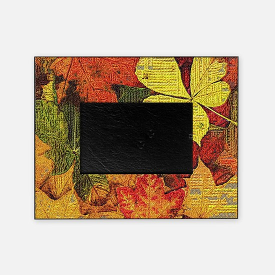 Textured Autumn Leaves Picture Frame