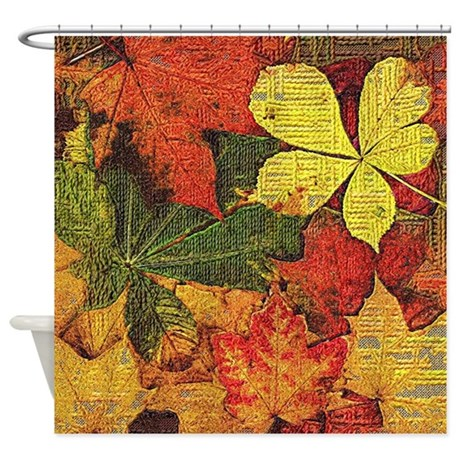 Textured Autumn Leaves Shower Curtain By Listing Store 113483648