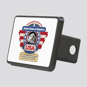USA Pledge of Allegiance Rectangular Hitch Cover