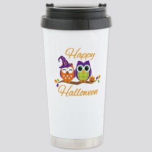 Happy Halloween Owls Travel Mug