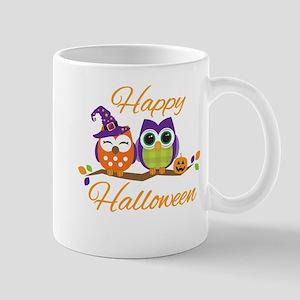 Happy Halloween Owls Mugs