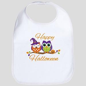 Happy Halloween Owls Bib