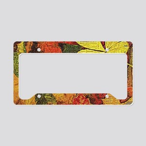 Textured Autumn Leaves License Plate Holder