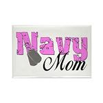 Navy Mom Rectangle Magnet (100 pack)