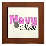 Navy Mom Framed Tile