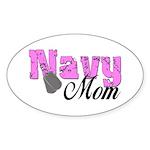 Navy Mom Oval Sticker