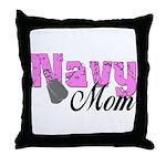 Navy Mom  Throw Pillow