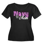 Navy Mom Women's Plus Size Scoop Neck Dark T-Shir